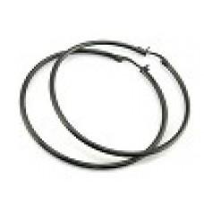 Серьги-кольца медсталь с черным напылением