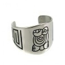 Кольцо на палец ноги медсталь c рисунком Майя