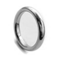 Кольцо медсталь гладкое узкое