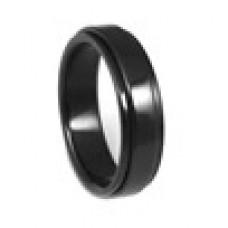 Кольцо медсталь черное двухслойное со скользящей поверхностью