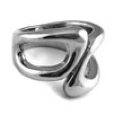 Кольцо медсталь аморфной формы