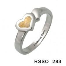 Кольцо медсталь тонкое с сердцем