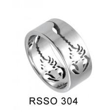 Кольцо медсталь с художественной лазерной обработкой - скорпион