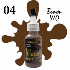04 Brown Yellow/Olive Rich Microblade Colors пигмент для микроблейдинга коричневый
