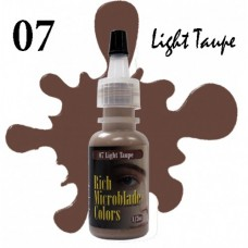 07 Light Taupe Rich Microblade Colors пигмент для микроблейдинга светлый серо-коричневый