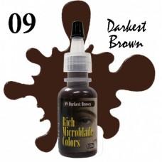 09 Darkest Brown Rich Microblade Colors пигмент для микроблейдинга тёмно-коричневый