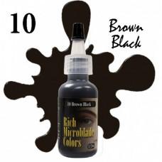 10 Brown Black Rich Microblade Colors пигмент для микроблейдинга чёрно-коричневый