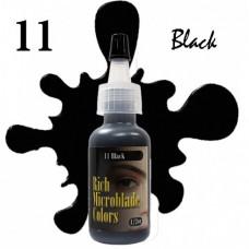 11 Black Rich Microblade Colors пигмент для микроблейдинга чёрный