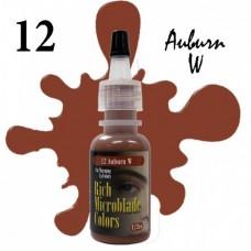 12 Auburn Rich Microblade Colors пигмент для микроблейдинга светло-коричневый