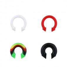Штанга согнутая кольцом (подкова) силиконовая с конусами