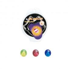 Пирсинг в язык без прокола - шарик биопласт цветной