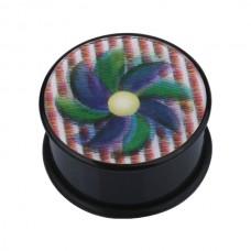 Плаг биопласт с рисунком - цветок