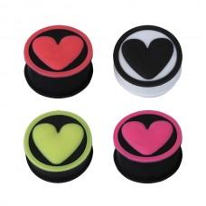 Плаг силиконовый с изображением сердца