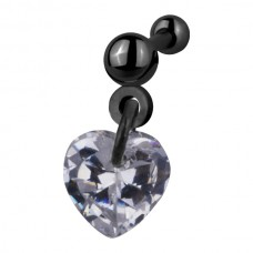 Украшение в козелок ушной раковины - кристалл в виде звезды
