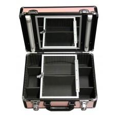 Кейс розовый с двумя осветителями.