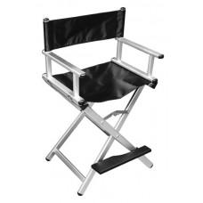 Кресло алюминиевое, раскладное, высокое, с подставкой для ног
