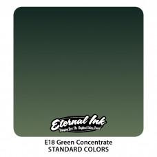 Green Concentrate Eternal Tattoo Ink зелёная концентрированная краска Этернал