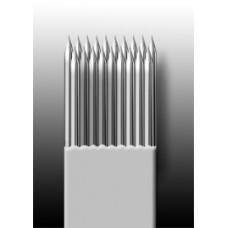 19M1 Иглы напаянные на спицу в шахматном порядке (магнум) широкая спайка (1 шт.)