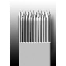 23M1 Иглы напаянные на спицу в шахматном порядке (магнум) широкая спайка (1 шт.)