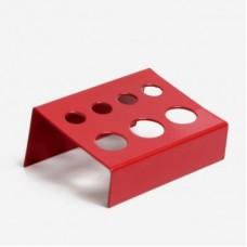 Подставка стальная красная с 7-ю отверстиями 9 и 14 мм