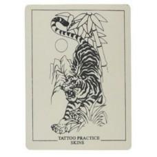 Искусственная кожа для обучения татуировке с тигром 20x15 см