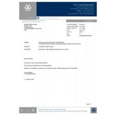 Millenium - Европейский сертификат Белефильдской лаборатории (отправляется в электронном виде на имейл)