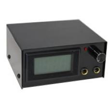 Блок питания с цифровой индикацией, чёрный металлический корпус.