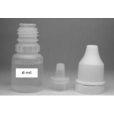 Флакон 6 ml полиэтиленовый с наконечником-лейкой и пломбой на крышке