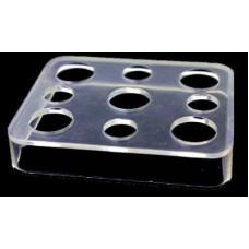 Пластиковая прозрачная подставка под колпачки с 9 отверстиями 16 мм и 11,5 мм