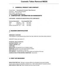 Tattoo Removal solution - состав жидкости для удаления татуировки (отправляется в электронном виде на имейл)