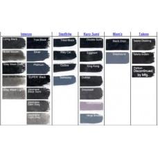 Сравнение чёрных и серых красок разных производителей