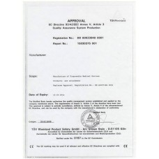 Иглы для тату и пирсинга - сертификат TUV (отправляется в электронном виде на имейл)