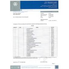 Intenze Сертификат Белефельдской химической лаборатории Германия (отправляется в электронном виде на имейл)